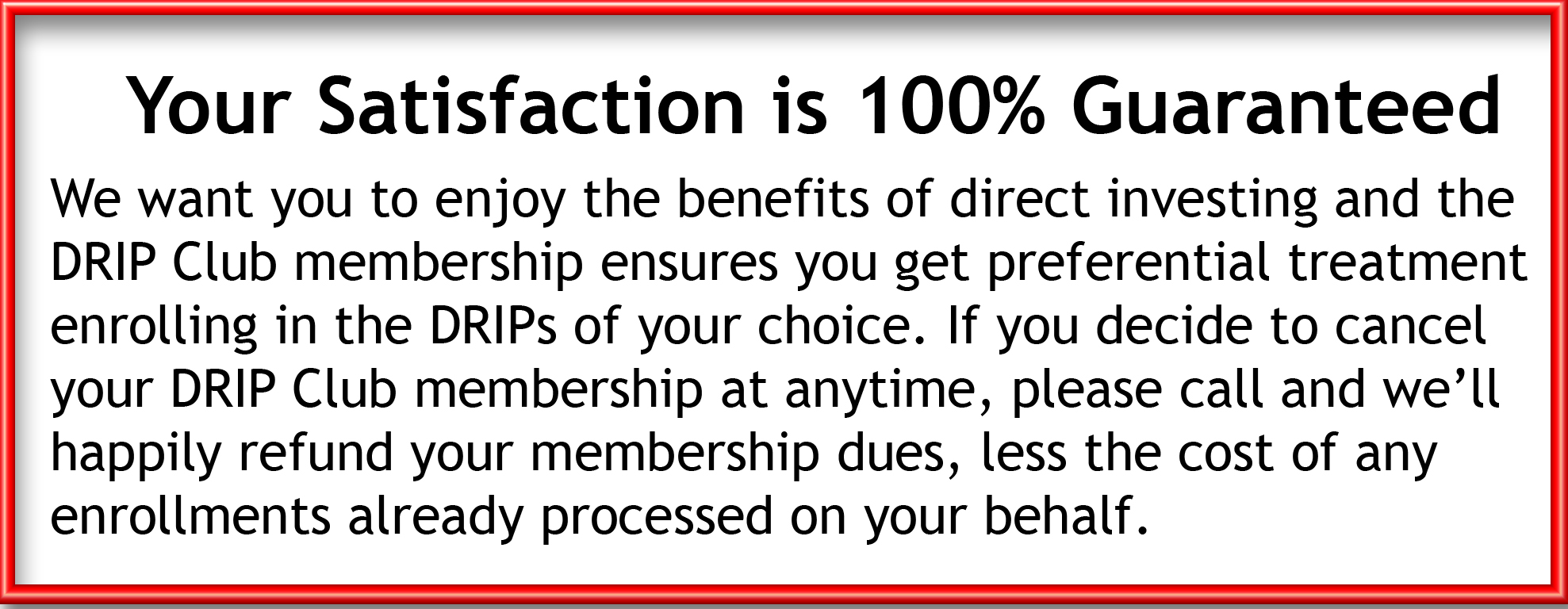 Directinvesting drip club membership got a question call us toll free 800 388 9993 biocorpaavc Images